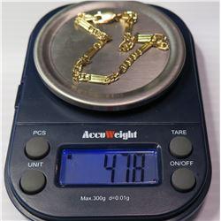 18K Gold Link Bracelet, Approx. 4.78 Grams