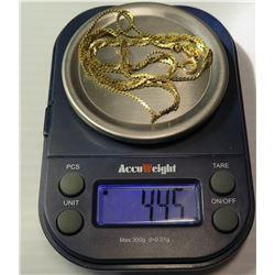 14K Braided Serpentine Neck Chain, Approx. 4.45 Grams
