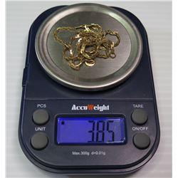14K Serpentine Neck Chain, Approx. 3.85 Grams