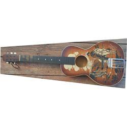 Hopalong Cassidy wooden guitar