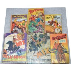 four little big books, Red Ryder, Tom Mix, Gene Autry; and 2 1940's swap-it books