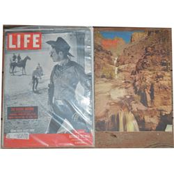1899 Capewell advertising calendar, 1908 Texas photo, Life 1951 magazine with Casey Tibbs and 1953 A