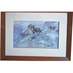 2 Charlie Russell framed prints