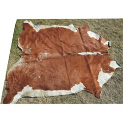 cowhide with hair on rug