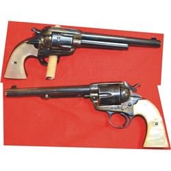 """Colt Bisley .44 S&W special 71/2"""" barrel, mfg 1904, #258866, with pearl grips & 95% case color"""