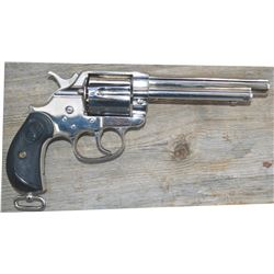"""Colt model 1878, 5 ½"""" barrel, nickel plated #50265, factory redone, with Colt letter, excellent cond"""