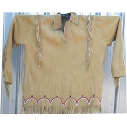 Cheyenne beaded and fringed buckskin shirt