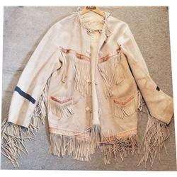 fringed vintage buckskin coat