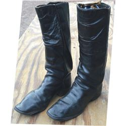 "15"" tall hand pegged boots"