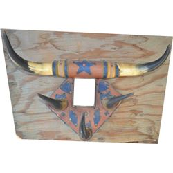 antique horn hat rack