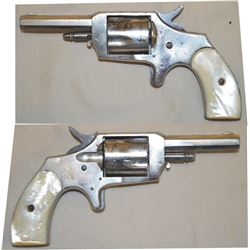 Kittleman .32 pistol nickel plated with pearl grips