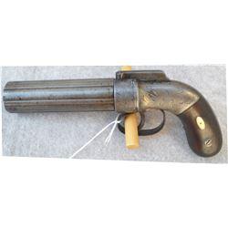 Mariette 1800's 6 shot pepper box pistol
