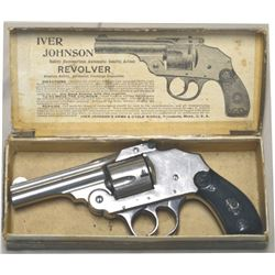 Iver Johnson nickel plated .38 s&w mfg 1890's