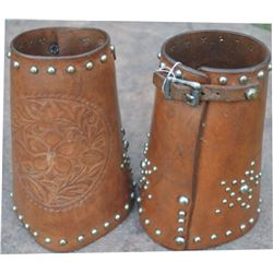 spotted and embossed cowboy cuffs