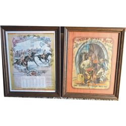 1899 Capewell advertising calendar & framed Capewell ad