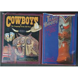 6 books; Texas Boots, Cowboy Trappings by Bill Mann