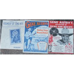 selection of western music, sheet music & song books