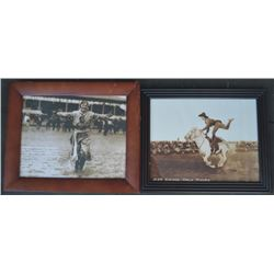 Gene Autry poster & 2 early cowgirl photos