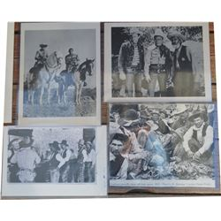 9 old cowboy & movie photos, and 10 early cowboy postcards