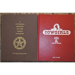 6 books; Texas Rangers history & Cowgirls by Judy Crandall;