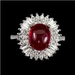 Oval Red Ruby 10x8 MM Ring
