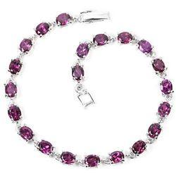 NATURAL AAA PURPLE PINK RHODOLITE GARNET Bracelet