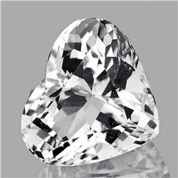 NATURAL DIAMOND WHITE AQUAMARINE HEART 3.70 CT