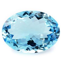 NATURAL SKY BLUE TOPAZ 13x10 MM - FLAWLESS