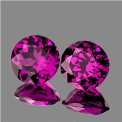 Natural Magenta Purple Rhodolite Garnet Pair -Untreated