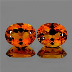 Natural  AAA Madeira Golden Orange Citrine Pair