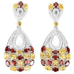 NATURAL AAA CITRINE & Garnet Earrings