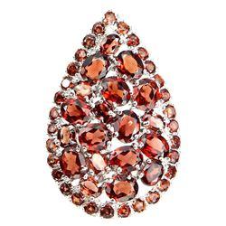 Natural Red Orange Mozambique Garnet Ring