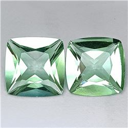 Natural Princess Green Amethyst Pair 14 MM - FL