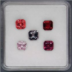 Natural Burma Spinel 5 Pcs - Untreated