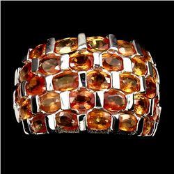 Natural Top Rich Orange Sapphire Ring