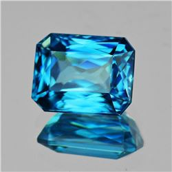 Natural Electric Blue Zircon 3.72 Cts [Flawless-VVS]