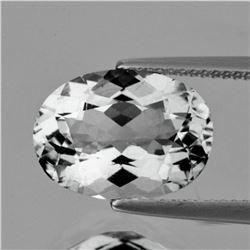 Natural Diamond White Aquamarine 11x8 MM - FL
