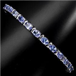 Natural Oval 6x4mm Blue Violet Tanzanite Bracelet