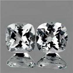 Natural  Diamond White Aquamarine Pair 6.50 MM - FL