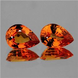 Mandarin Orange Spessartite Garnet Pair
