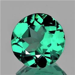 Natural AAA Paraiba Green Apatite 7.50 MM{Flawless-VVS}