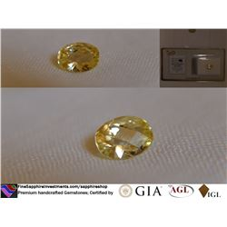 Vivid Lemon-Yellow Sapphire, unheated | GIA 2.70 ct