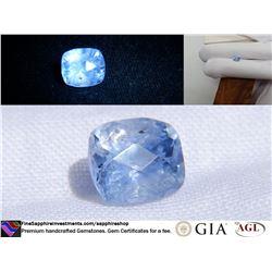 Smokey Sky-Blue Sapphire, Ceylon, hand cut 1.73 ct