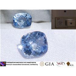 Sky-Blue Metallic Ceylon Sapphire | GIA 2.19 ct