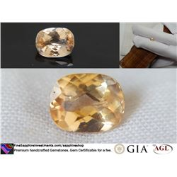 vivid orange Sapphire unheated prime cut GIA 1.16 ct