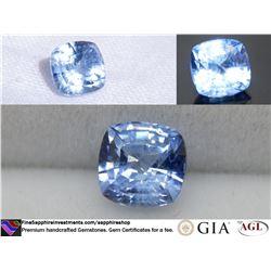 Vivid Sky-Blue premium Sapphire, handcrafted 0.93 ct