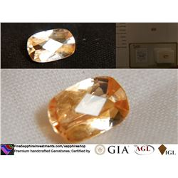 Orange Sapphire, unheated, premium cut | AGL 1.38 ct