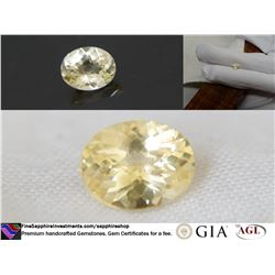 Vivid Yellow premium handcrafted cut Sapphire 1.13 ct