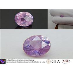 Vivid color-change Pink/Violet premium Sapphire 1.98 ct