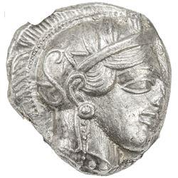 ATTICA: Anonymous, 440-404 BC, AR tetradrachm (17.20g), Athens. NGC AU